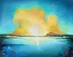 Golden Sunset II by Anna Gammans -  sized 18x14 inches. Available from Whitewall Galleries